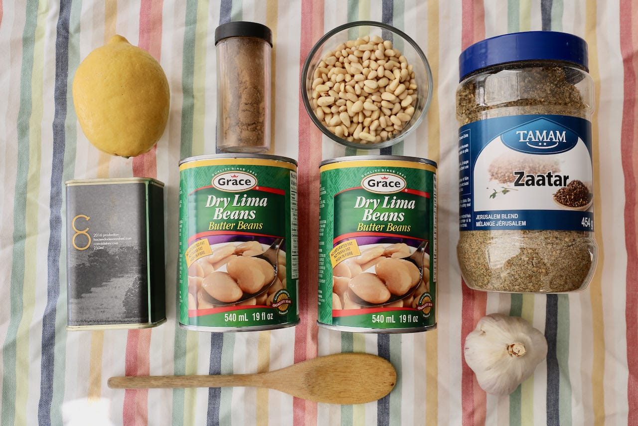 Ingredients you'll need to make our easy vegan Butter Bean Dip recipe.