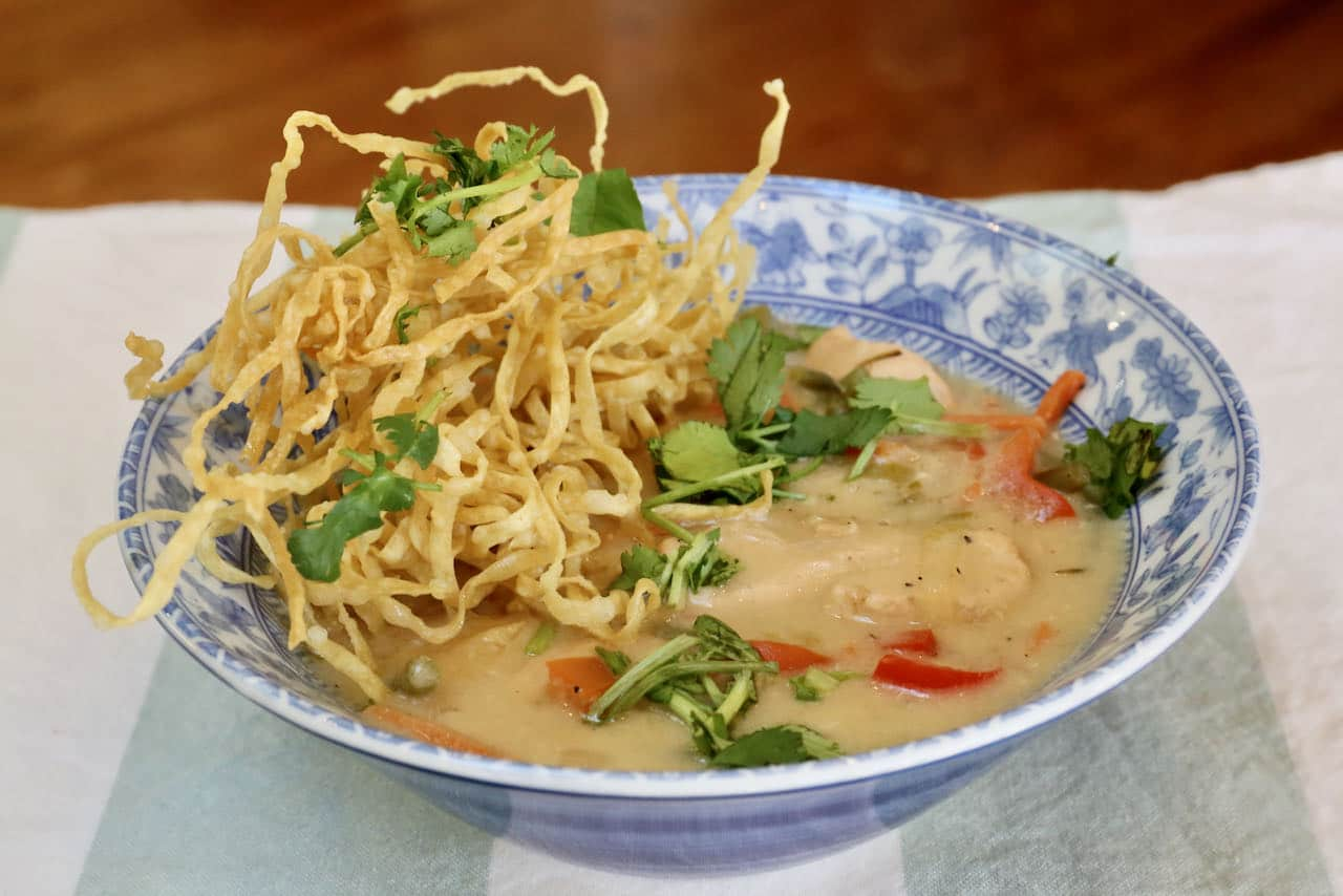 We love doubling this Chicken Manchow Soup recipe so we can enjoy leftovers throughout the week.