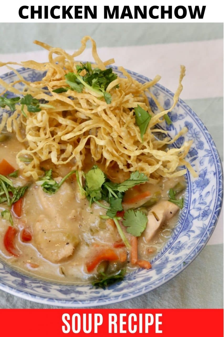 Save our Chicken Manchow Soup recipe to Pinterest!