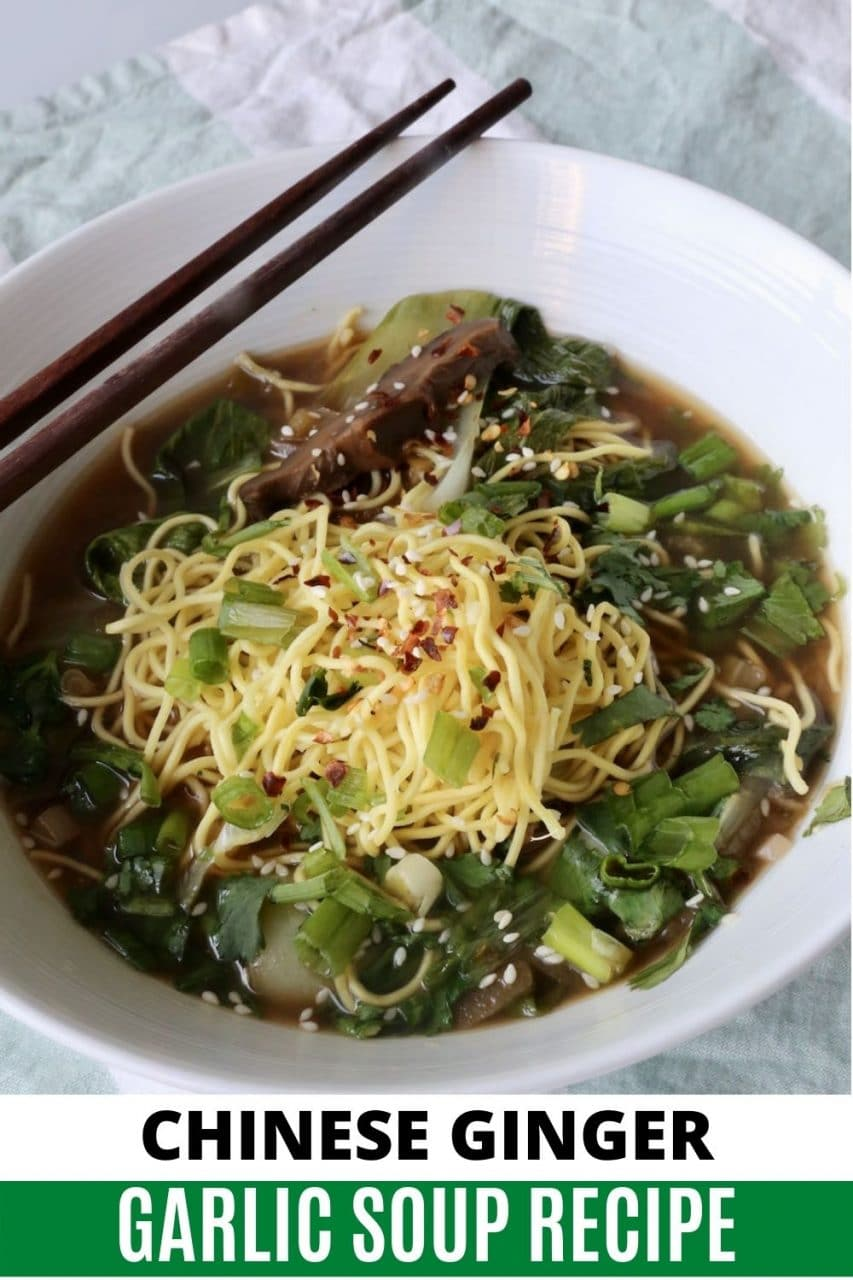 Save our Chinese Ginger Garlic Soup recipe to Pinterest!