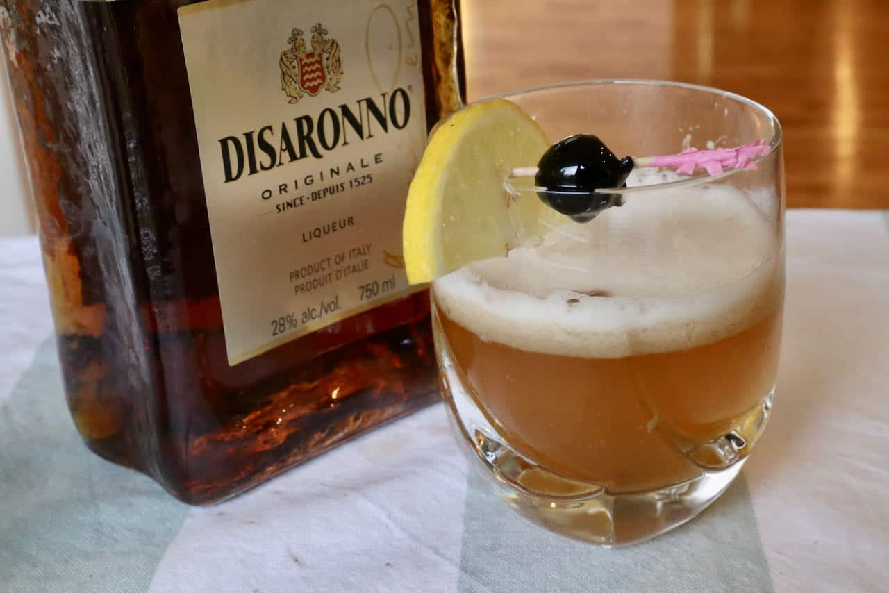 We love serving Disaronno Sour cocktails at Christmas holiday parties and Italian-themed dinners.