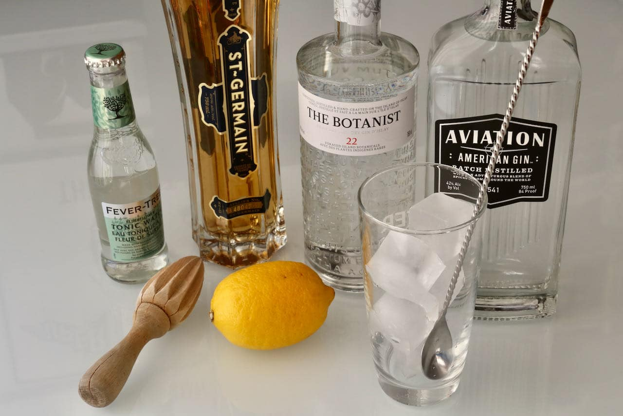 Prepare an easy Elderflower Collins cocktail at home by using a bottle produced by an award-winning distillery.