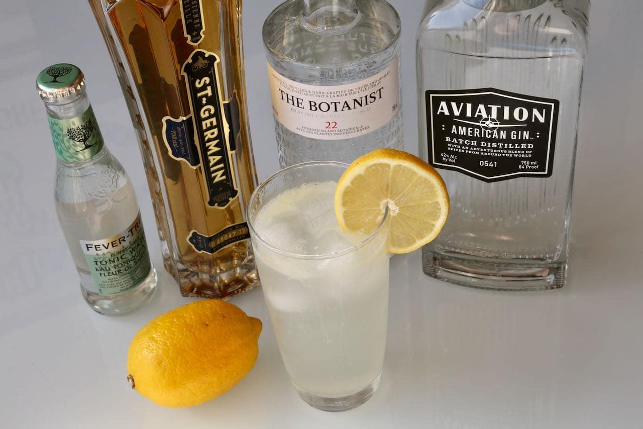 Elderflower Collins Cocktail Drink Recipe