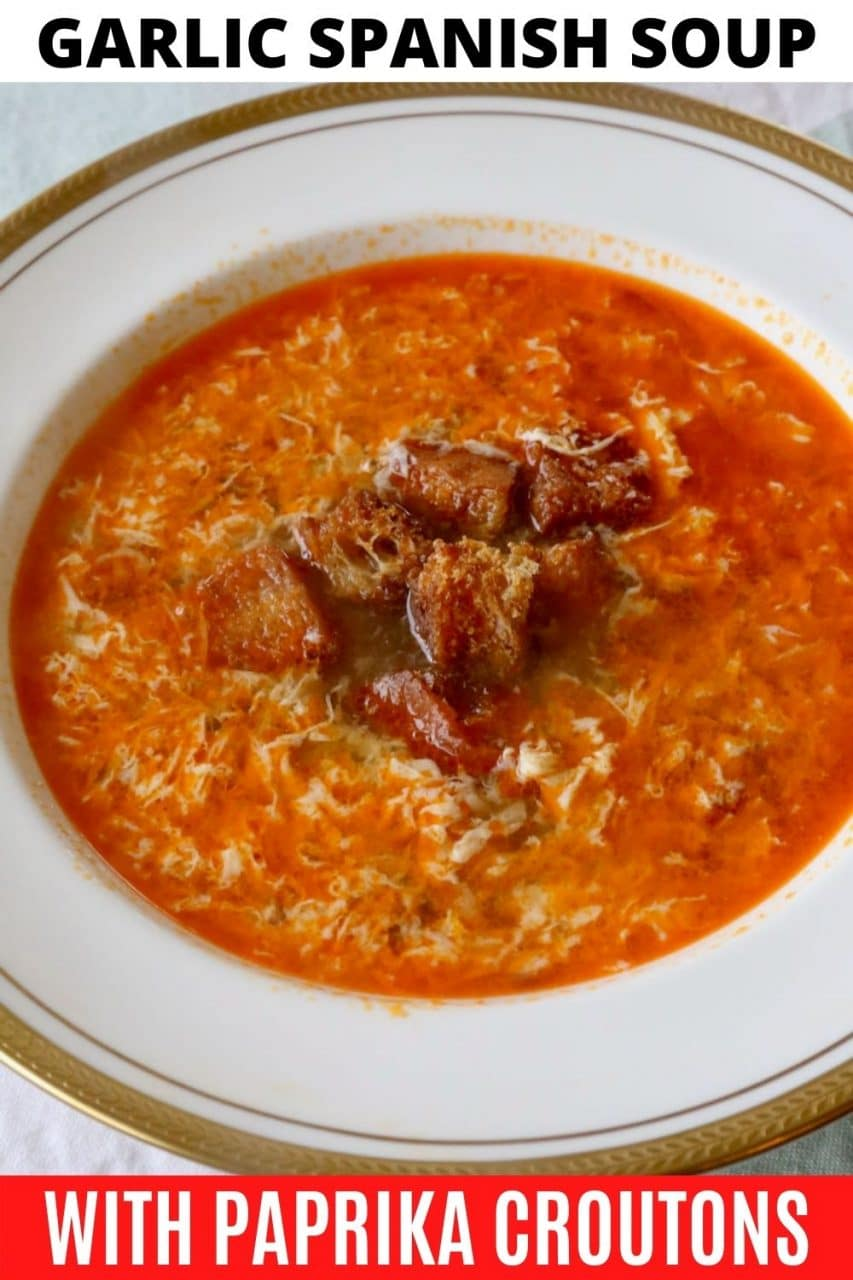 Save our Garlic Spanish Soup recipe to Pinterest!