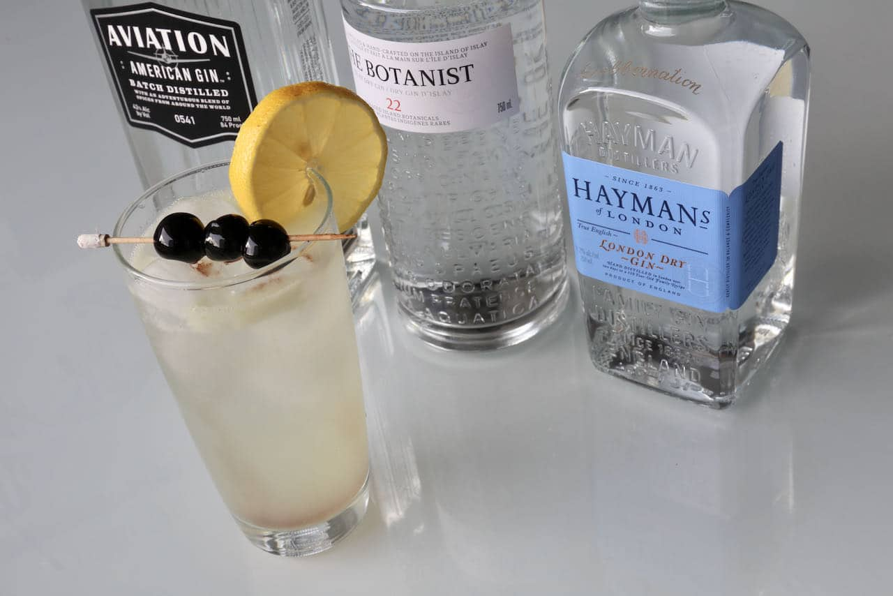 Serve a homemade John Collins Drink with gin in the summer on a hot day.