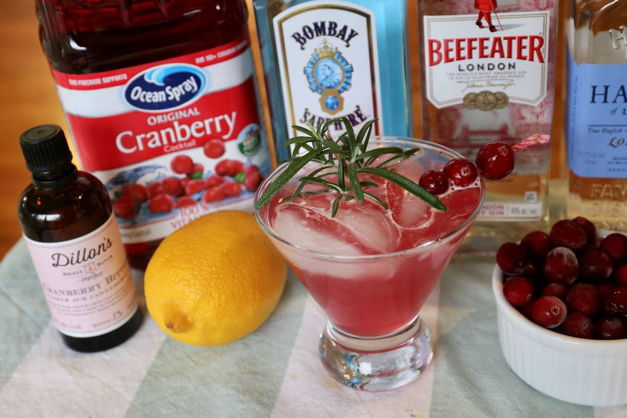 Our easy homemade Gin and Cranberry Cocktail is a festive drink option for the Christmas holidays.