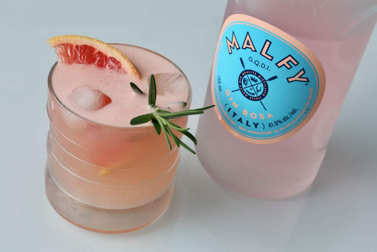 Malfy Grapefruit Gin & Rosemary Cocktail Drink Recipe