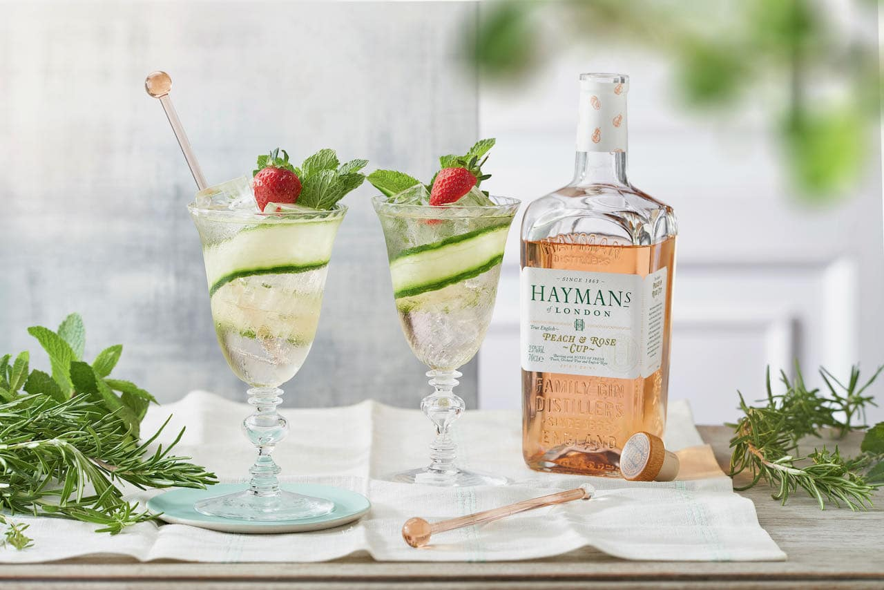 Hayman's Peach & Rose Cup makes refreshing summer cocktails.