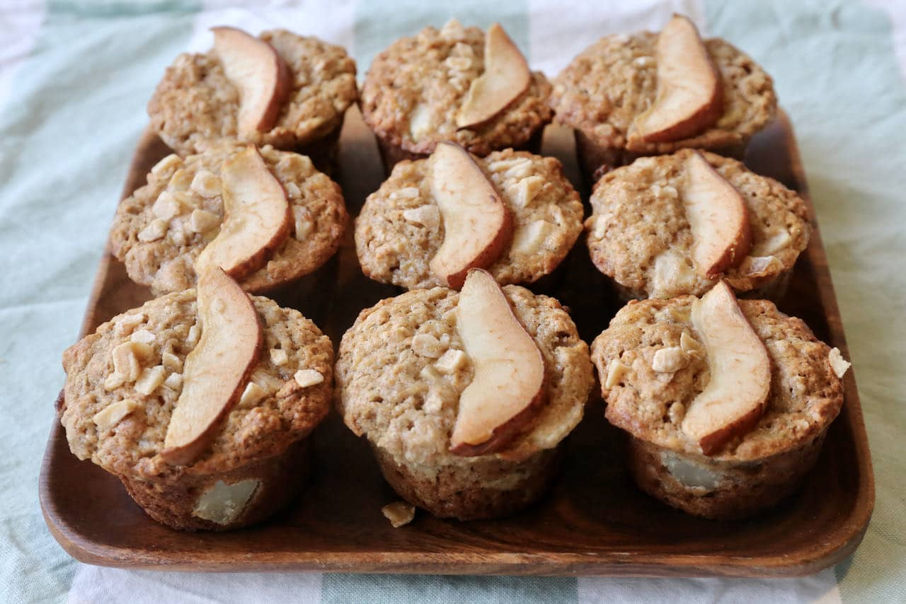 Vegetarian Muffins: Ginger Spiced Banana Pear