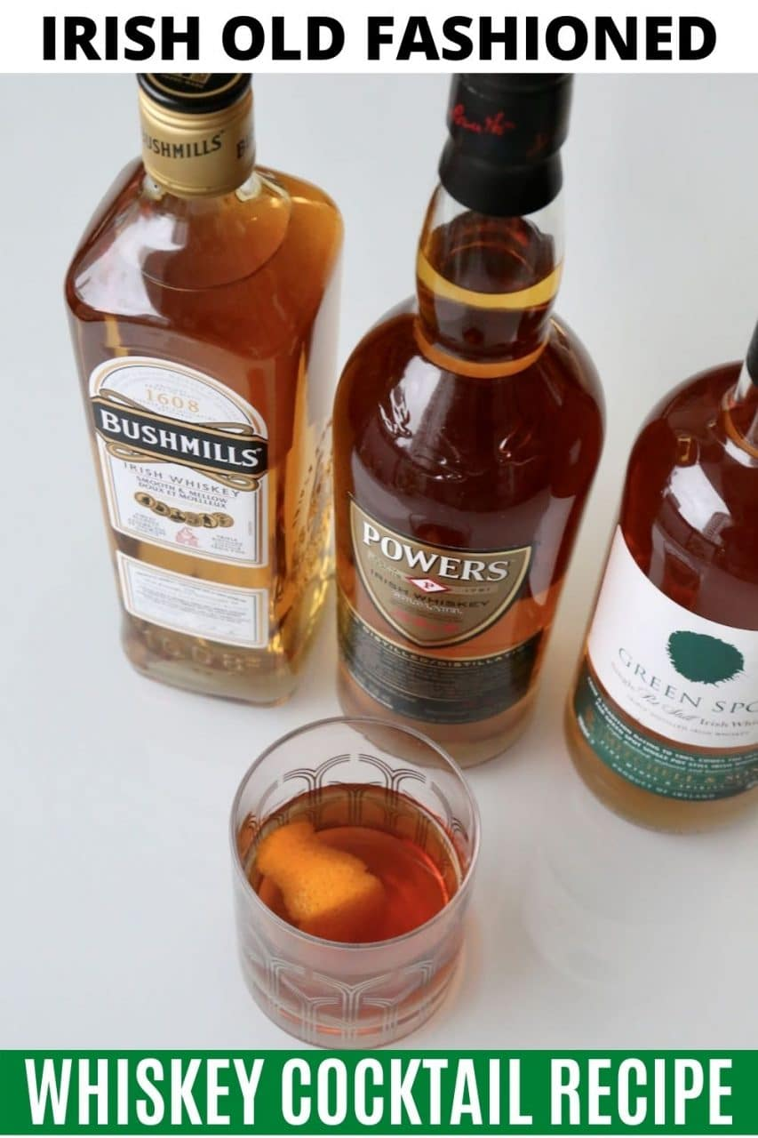 Save our traditional Irish Old Fashioned cocktail recipe to Pinterest!