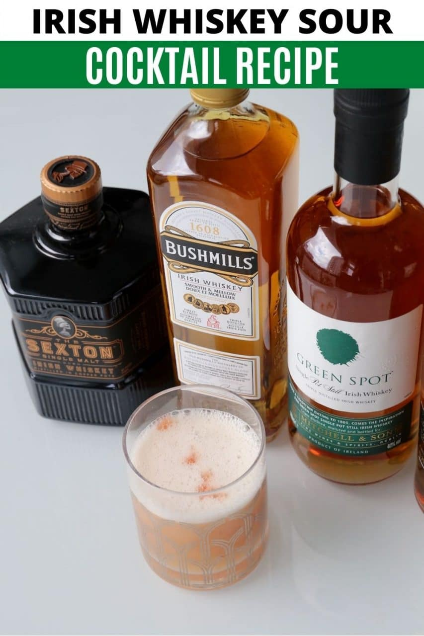 Save our homemade Irish Whiskey Sour recipe to Pinterest!