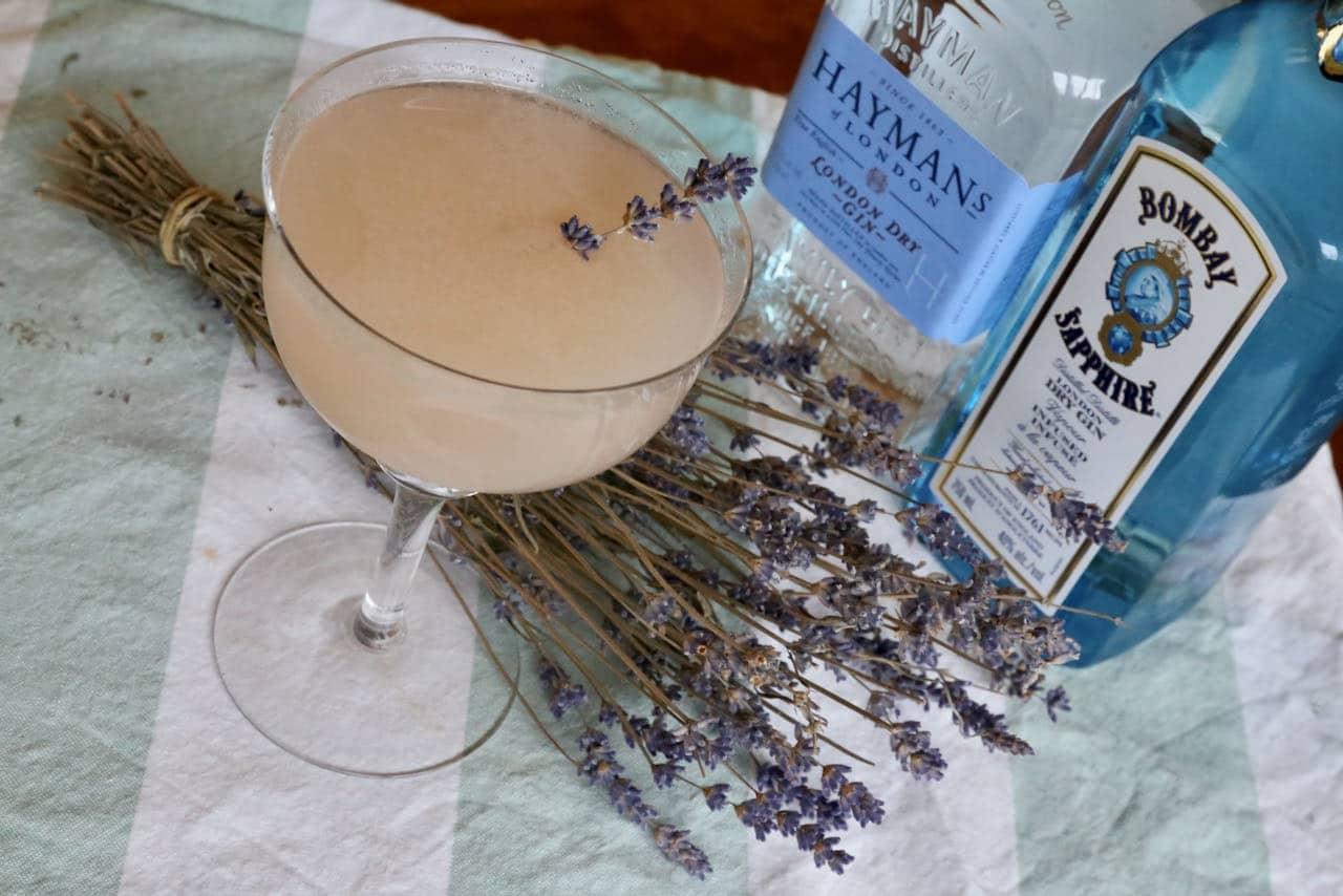 Lavender Gin Cocktail Lemonade Fizz Recipe