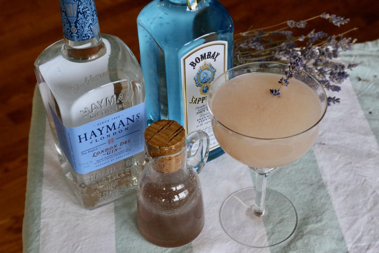Serve a homemade Lavender Gin Cocktail in the summer on a hot day.