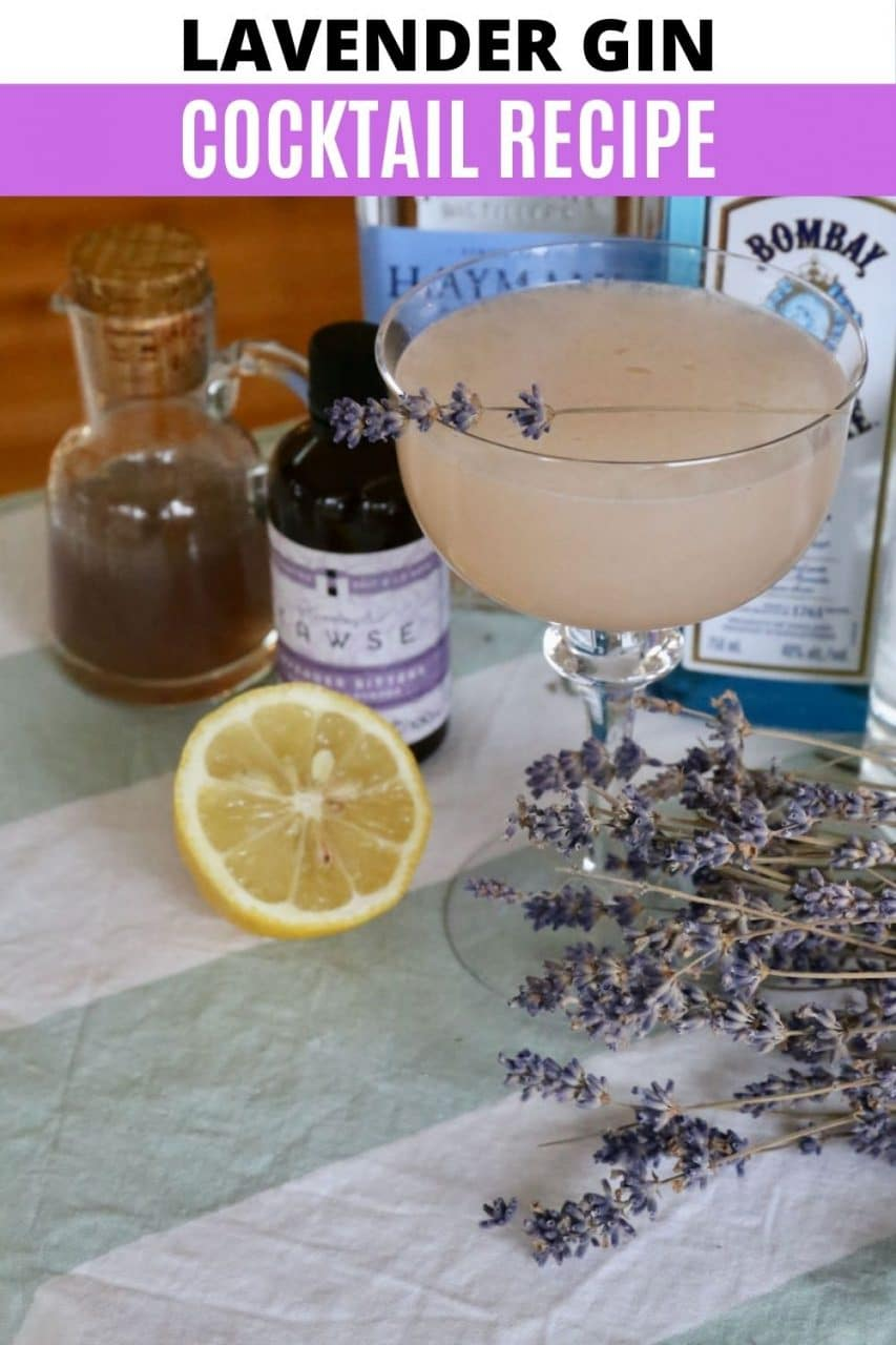 Save our Lavender Gin Cocktail recipe to Pinterest!