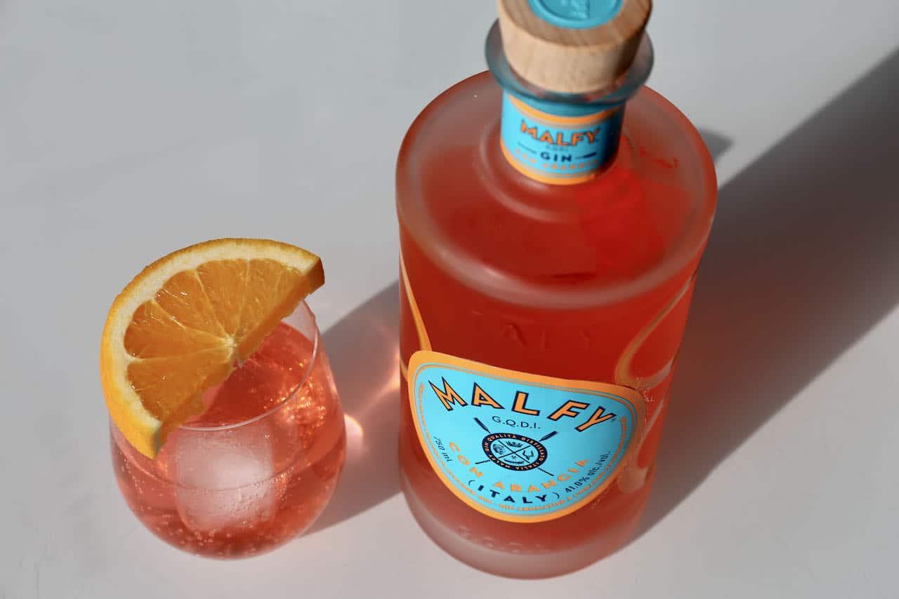 Malfy Gin Con Arancia is a blood orange gin made in Italy.
