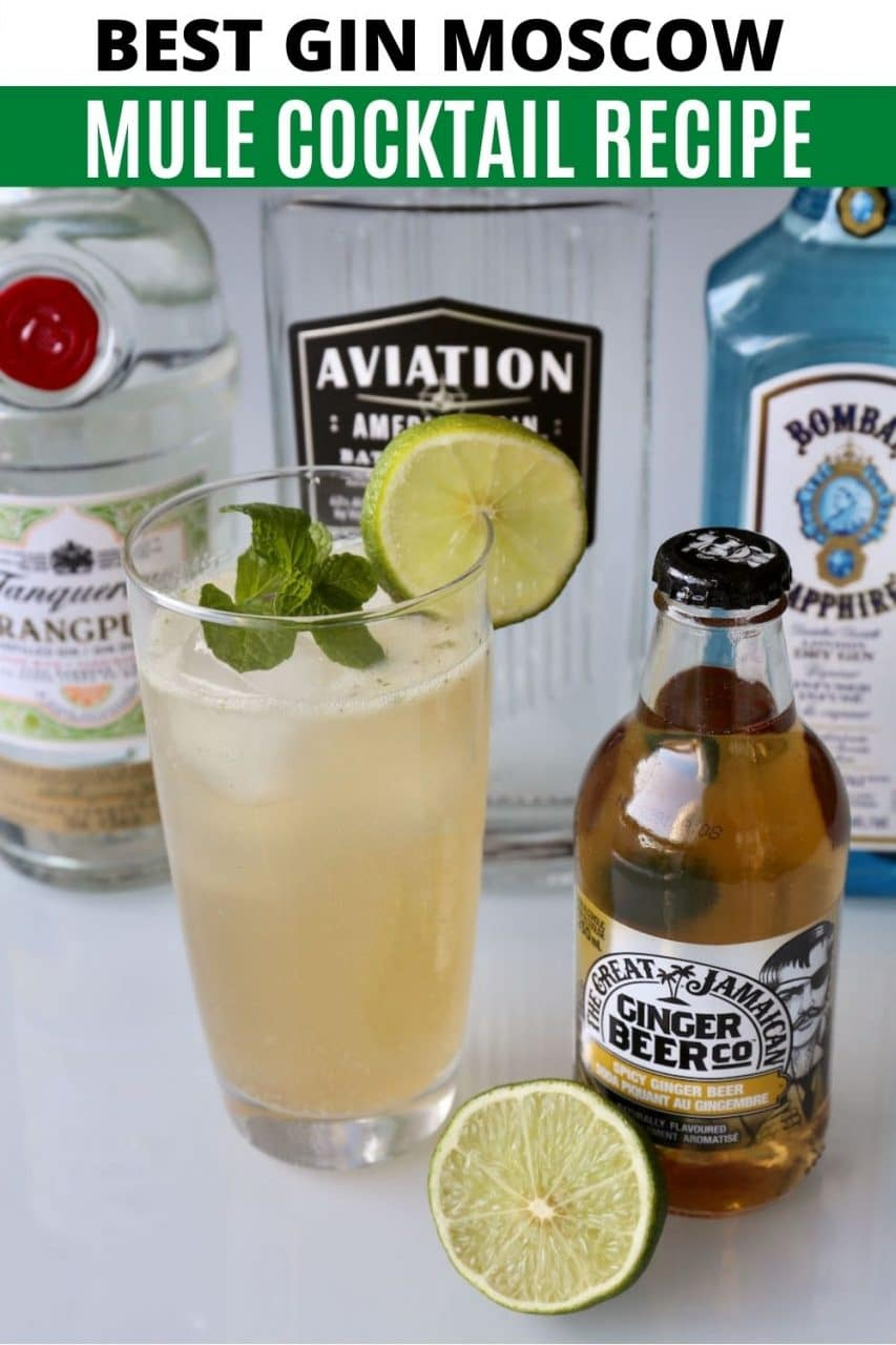 Save our Moscow Mule with Gin Cocktail recipe to Pinterest!