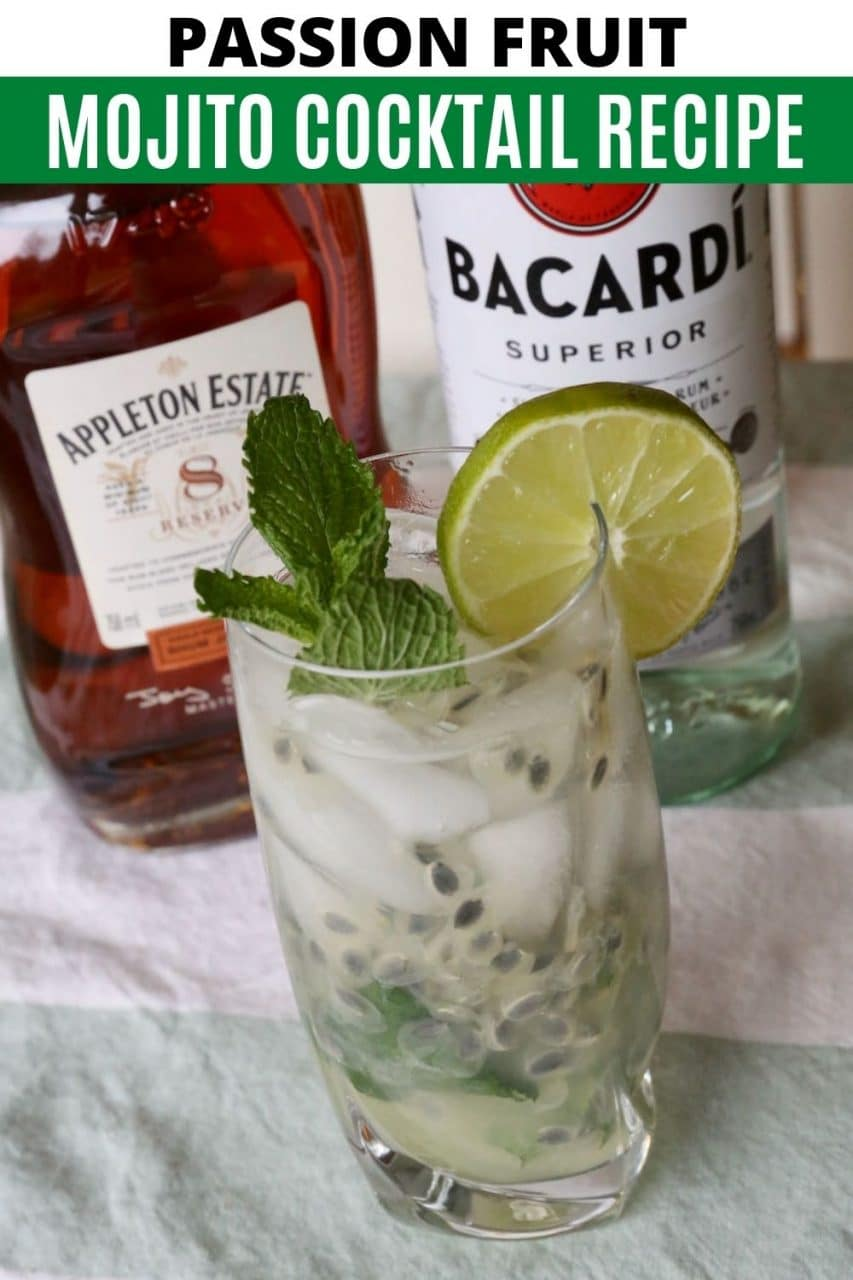 Save our Passion Fruit Mojito recipe to Pinterest!