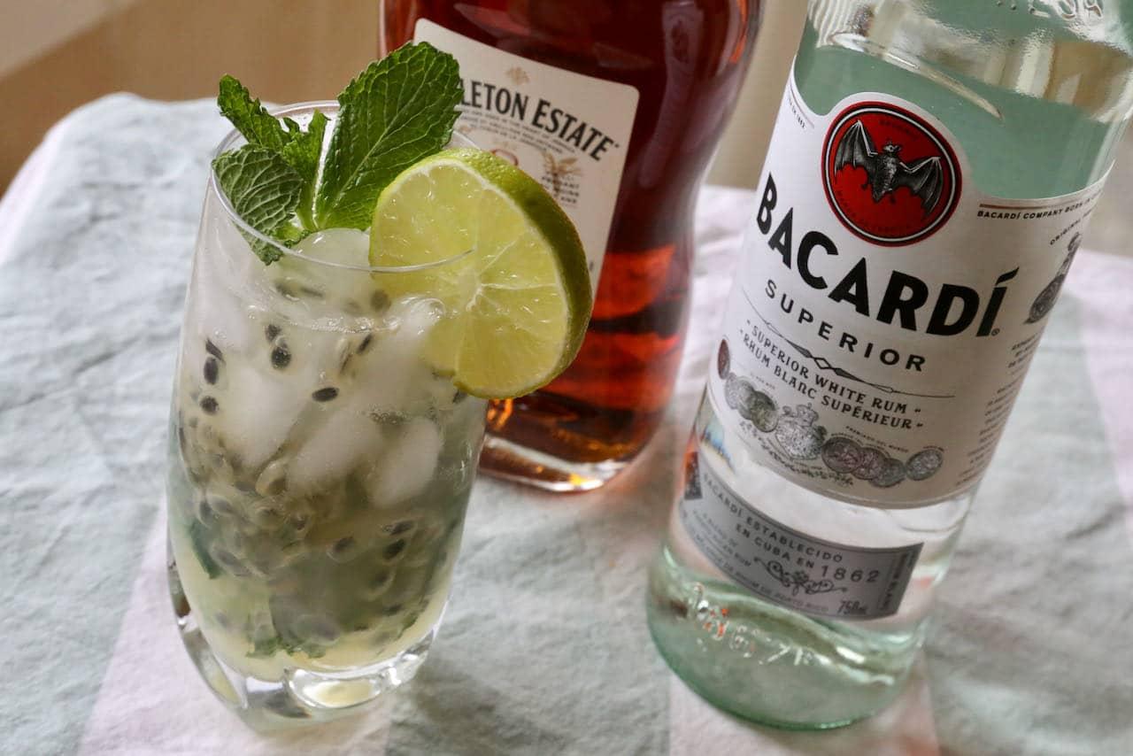 Passion Fruit Mojito Cocktail Drink Recipe