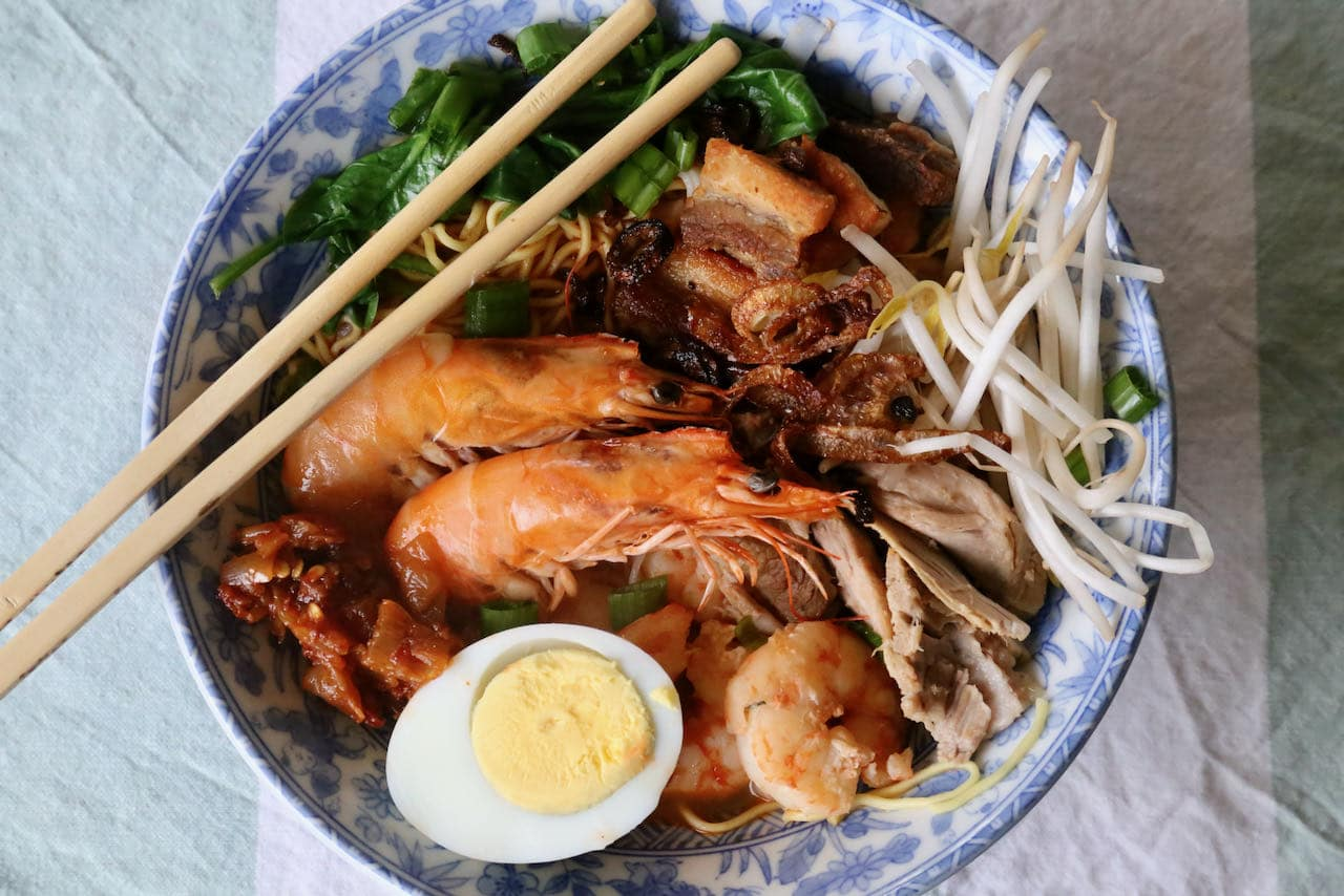 Hokkien Mee is a traditional noodle recipe from Penang, Malaysia.