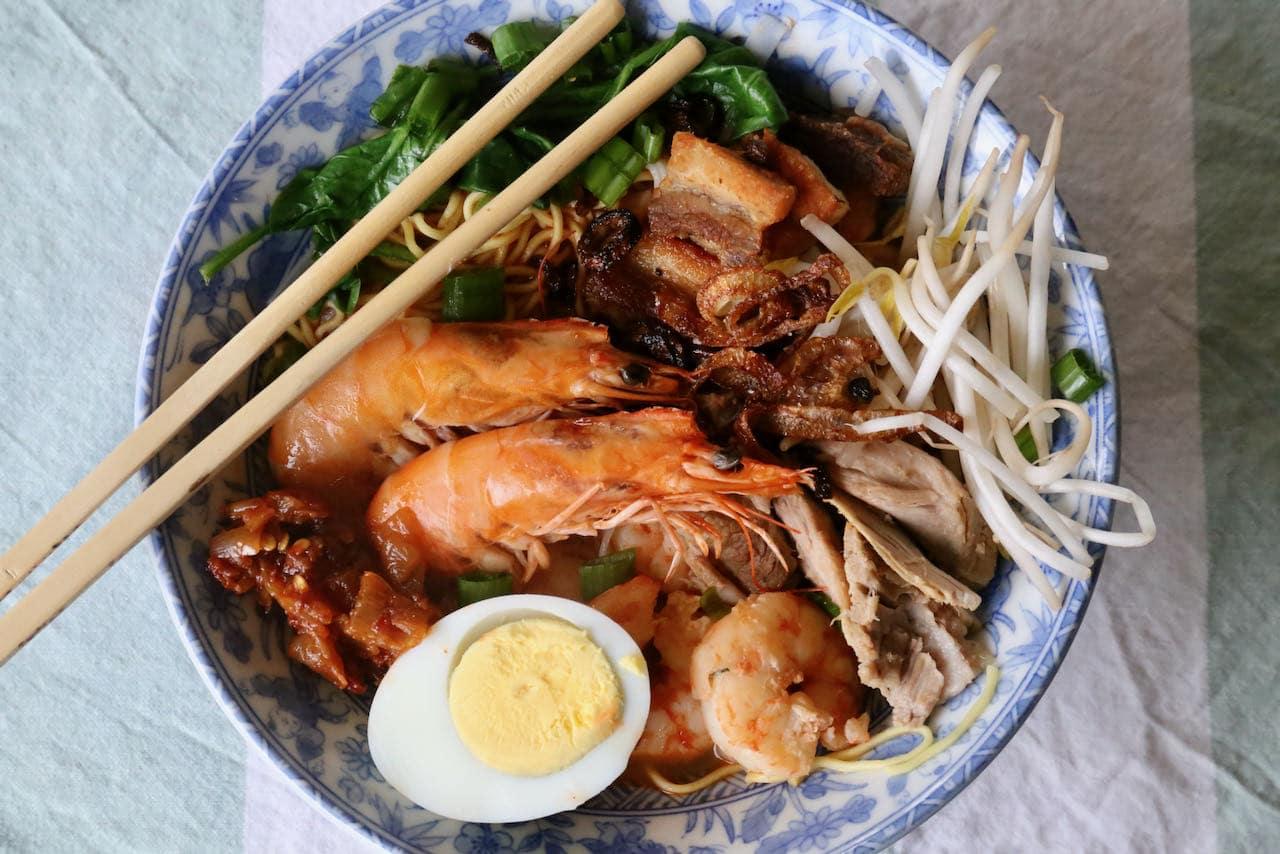 Penang Prawn Noodle Soup Hokkien Mee Recipe