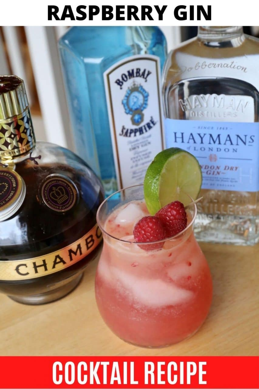 Save our Raspberry Gin Chambord Cocktail recipe to Pinterest!