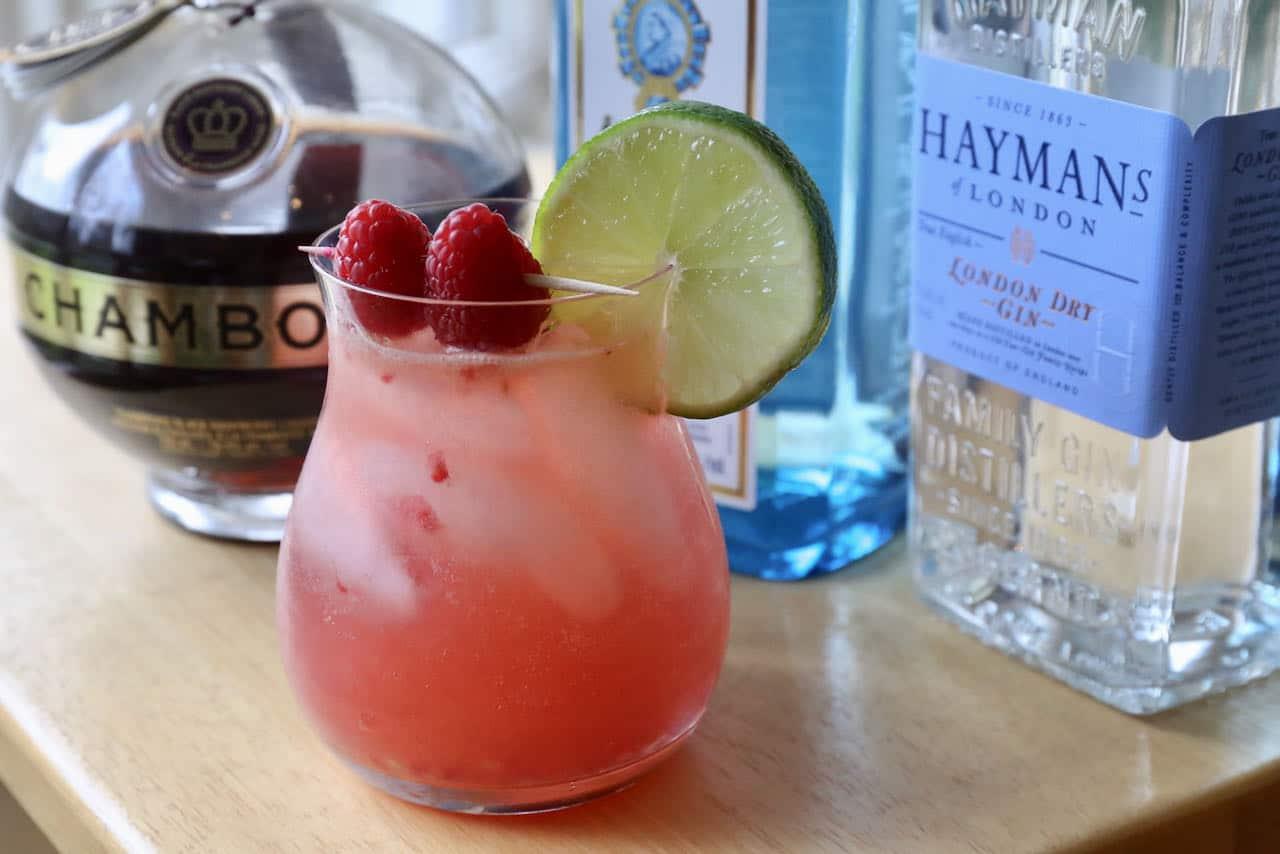 Raspberry Gin Fizz Chambord Cocktail Recipe