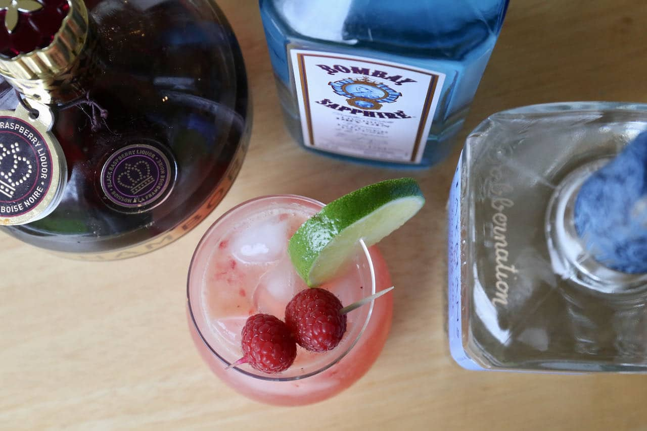 Our easy homemade Gin and Chambord Cocktail is a festive drink option for the Christmas holidays.