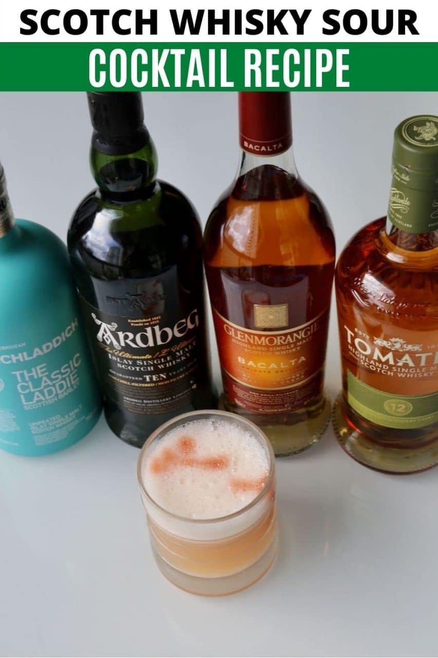 Save our easy homemade Scotch Sour recipe to Pinterest!