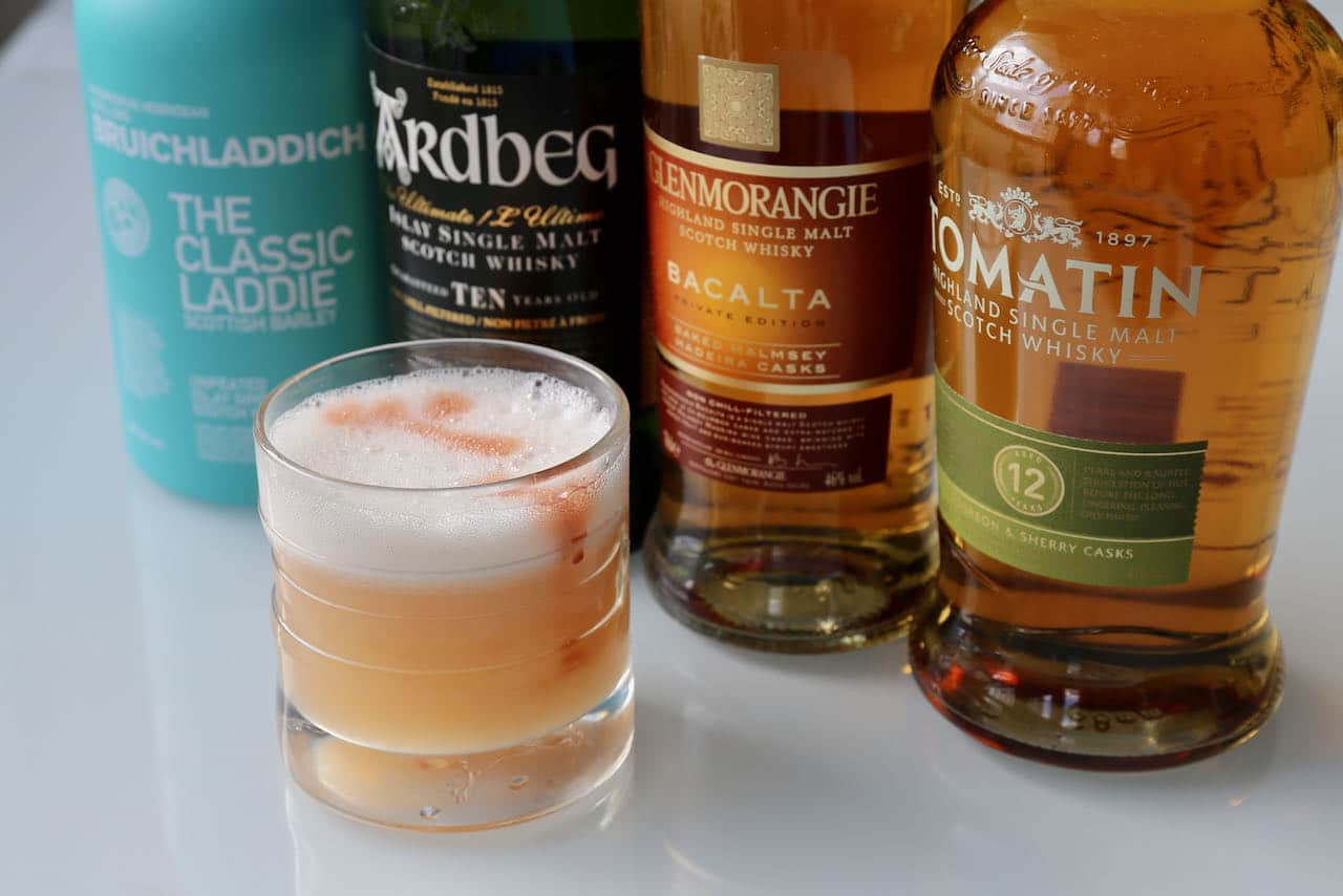 Scotch Sour Whisky Cocktail Drink Recipe