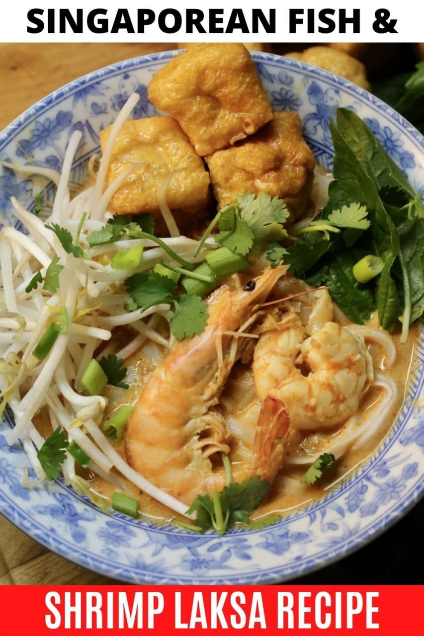 Save our Seafood Laksa Singaporean Soup recipe to Pinterest!
