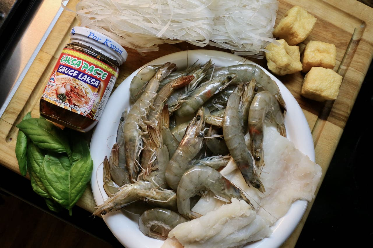 Our easy Seafood Laksa recipe features store bought Laksa Paste.