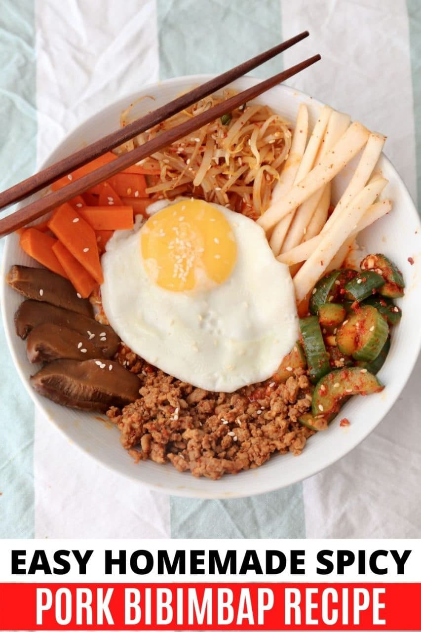 Save our Spicy Pork Bibimbap recipe to Pinterest!