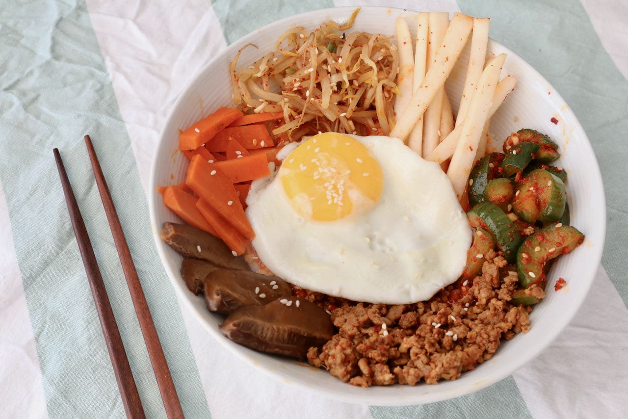 Best Healthy Homemade Spicy Pork Bibimbap Recipe