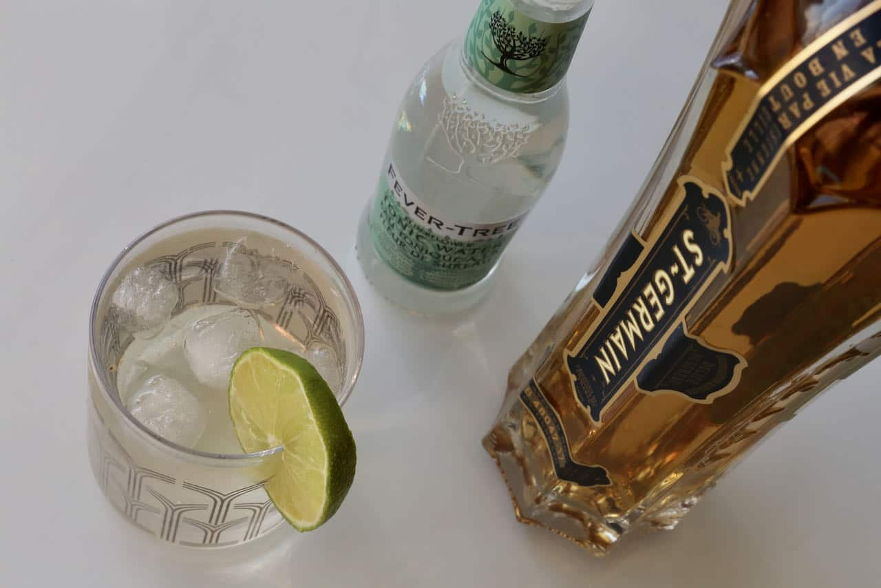 Serve a homemade Elderflower Gin and Tonic in the summer on a hot day.