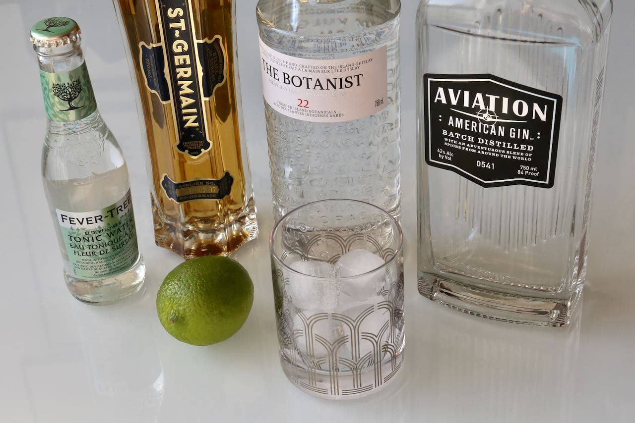 Prepare an easy Elderflower Gin and Tonic cocktail at home by using a bottle produced by an award-winning distillery.