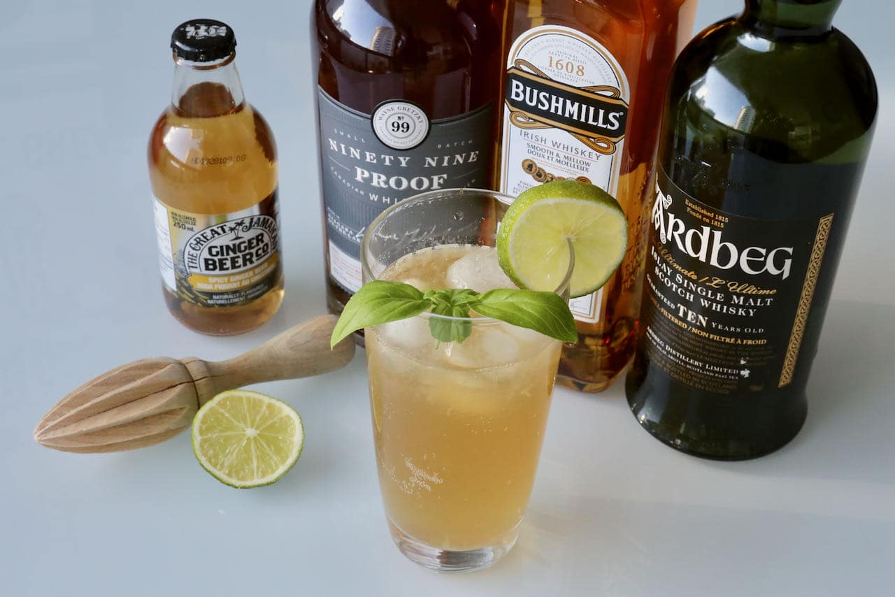 Serve Whiskey and Ginger Beer on a hot summer day as it's delightfully thirst quenching.