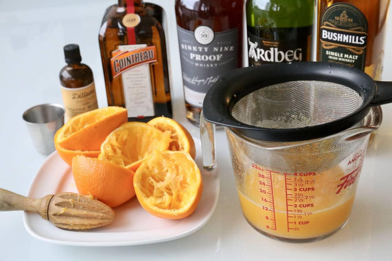 Our favourite brunch cocktail features freshly squeezed orange juice, orange liqueur and orange bitters.