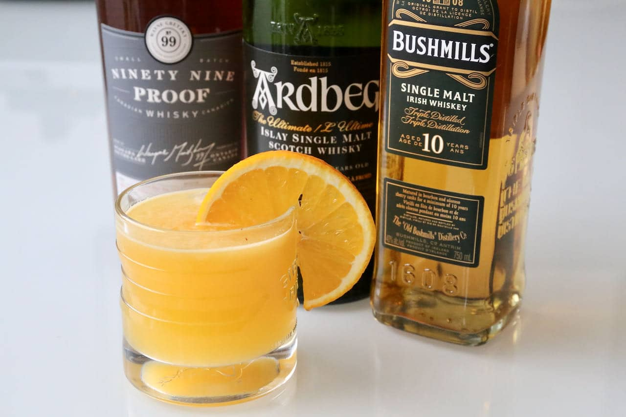 Easy Fresh Whisky Orange Juice Cocktail Drink Recipe