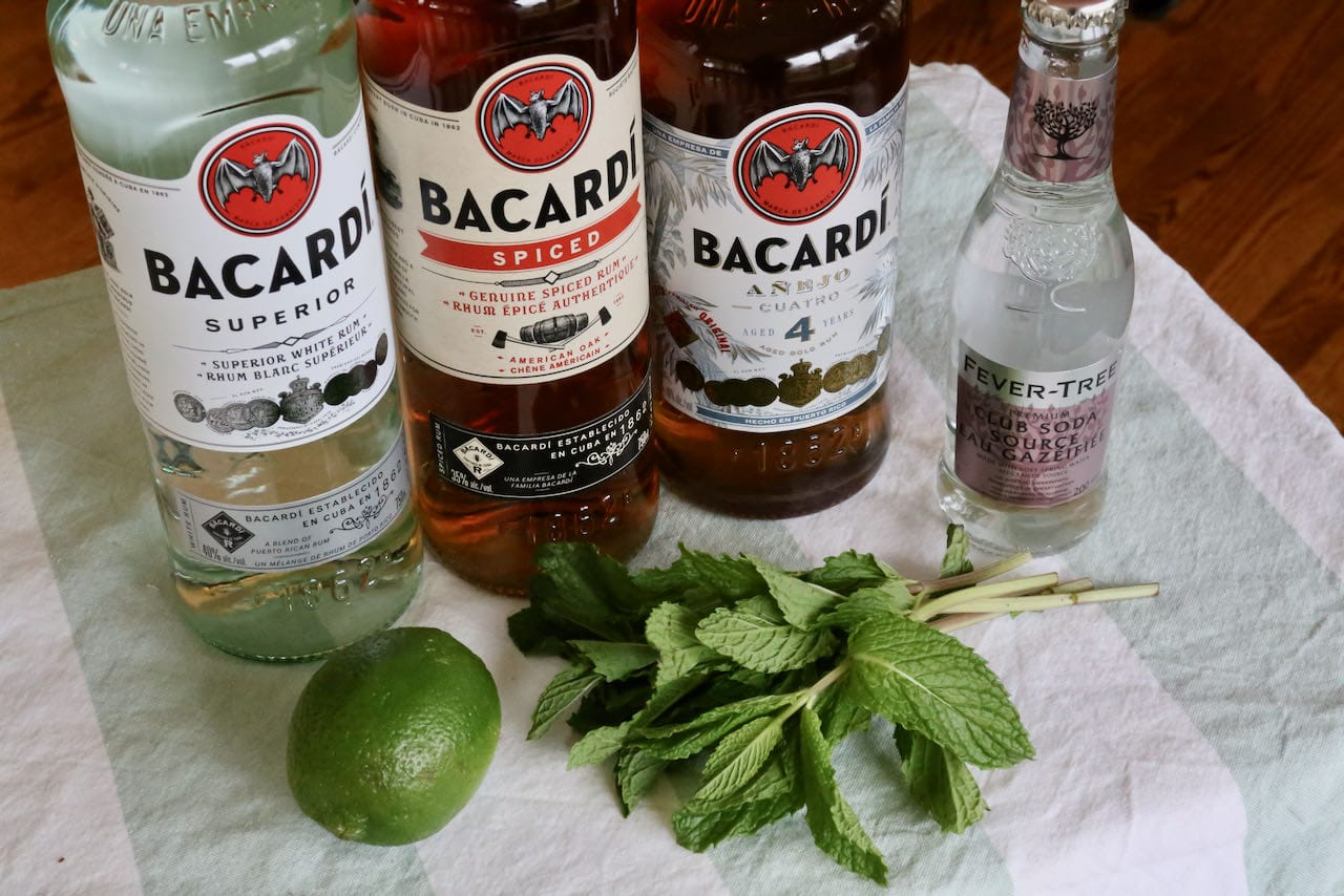 Bacardi Mojito ingredients include fresh lime, mint and soda.