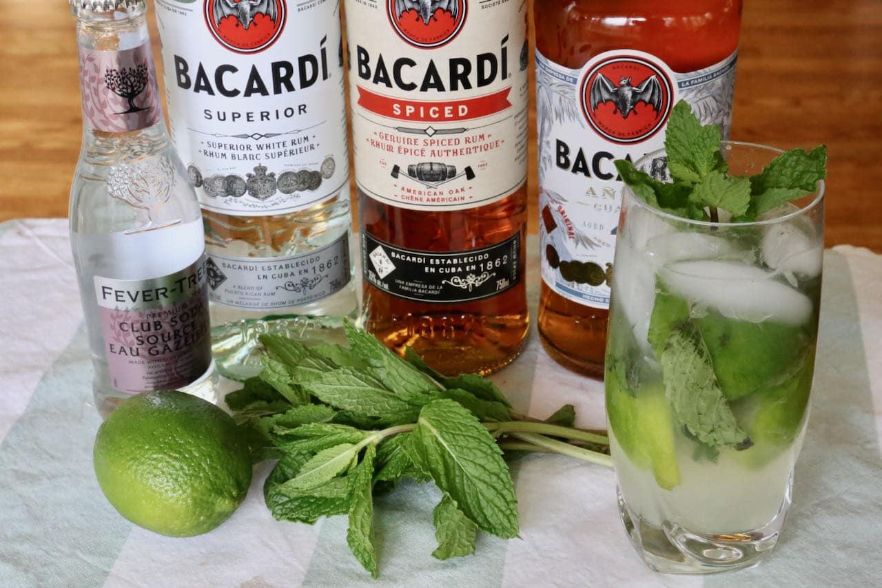 Our Bacardi Rum Mojito is a rift on the classic Cuban highball cocktail.