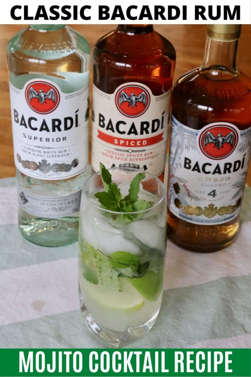 Save our Bacardi Mojito Cocktail recipe to Pinterest!