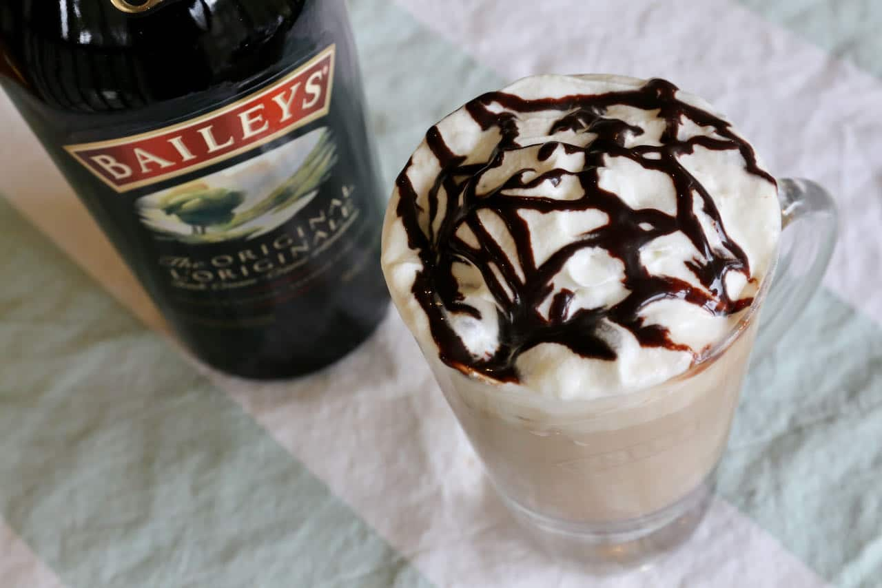 We love serving Baileys Iced Coffee on a hot summer day and during the holidays at Christmas.