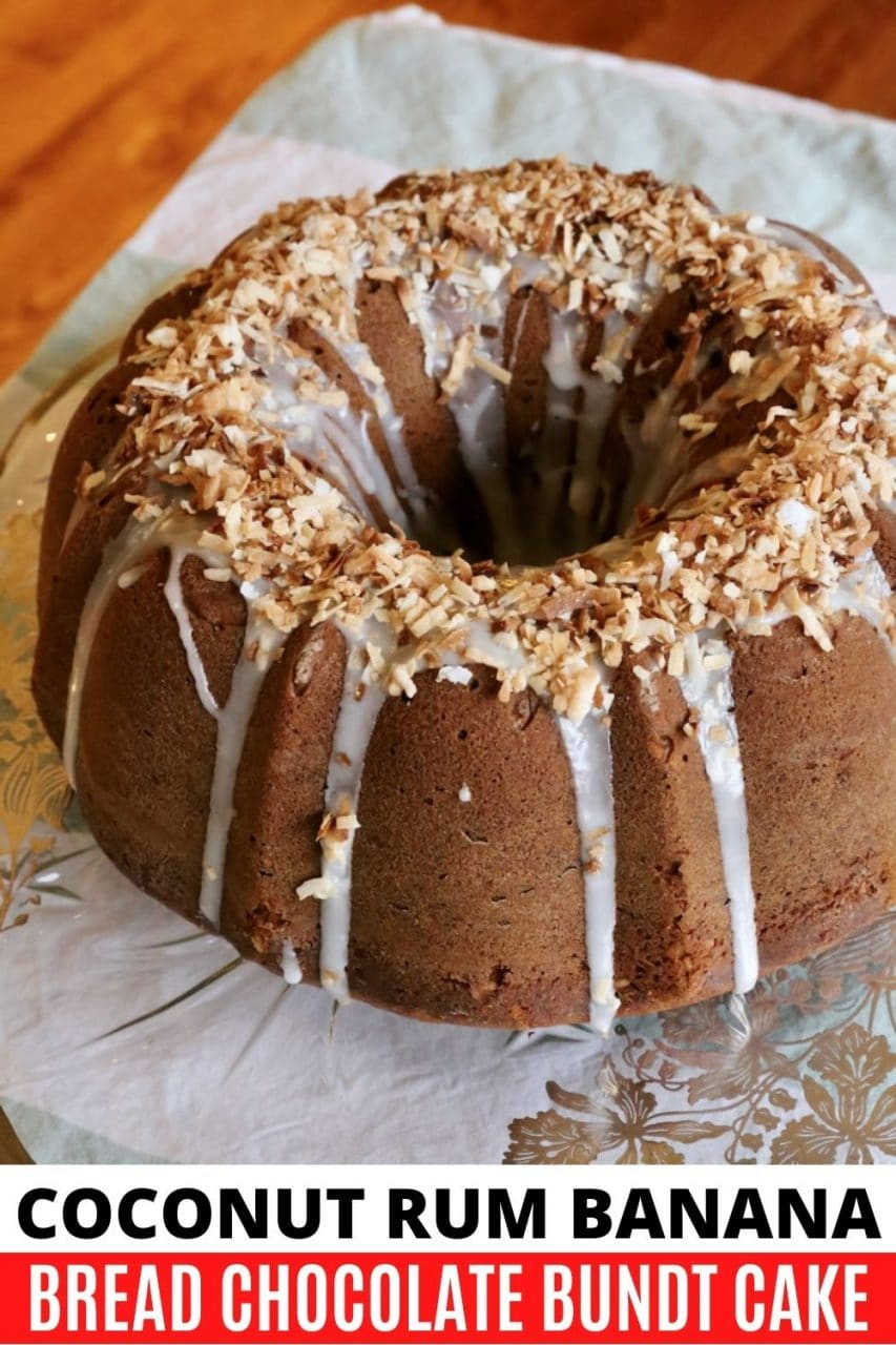 Save our Caribbean Banana Bread Bundt Cake recipe to Pinterest!