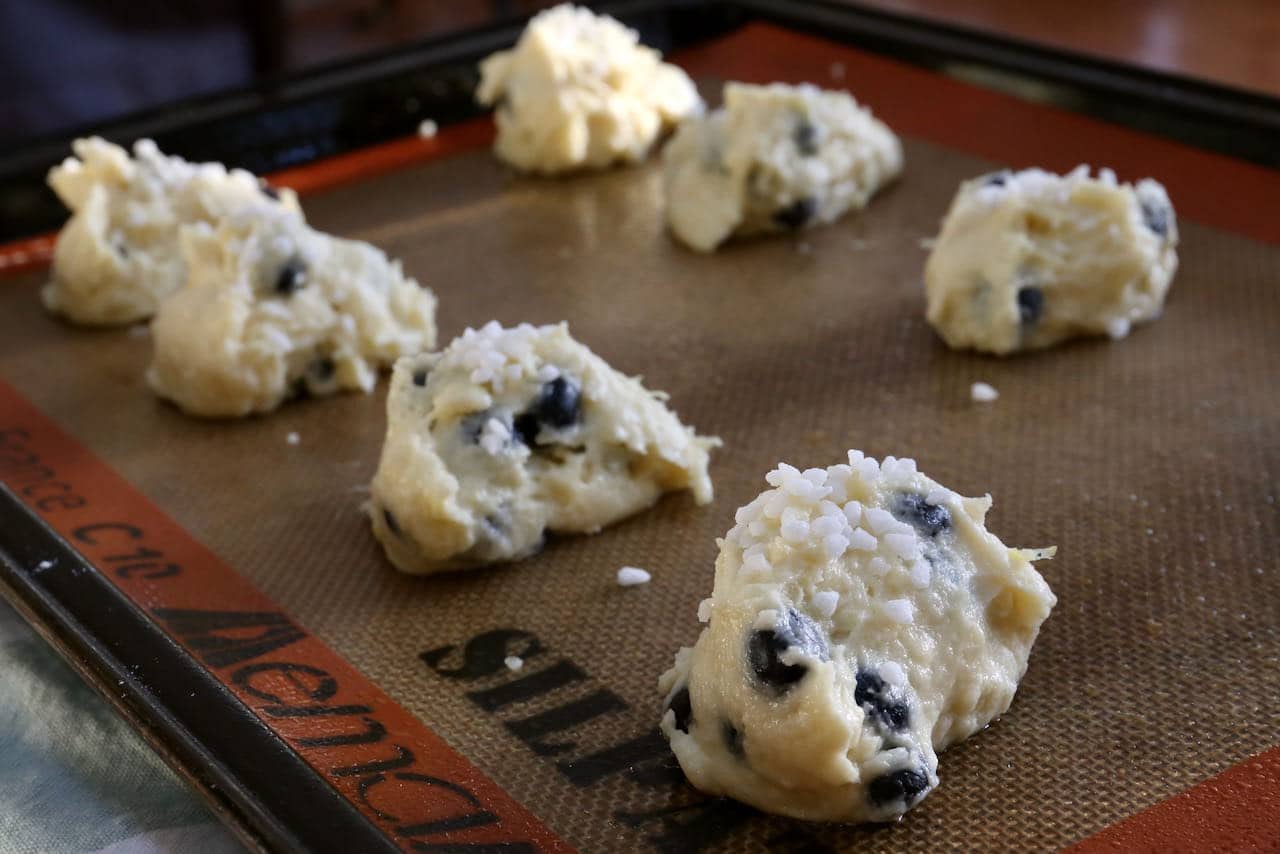 This recipe for muffin tops can be prepared on a cookie sheet or baking tray.
