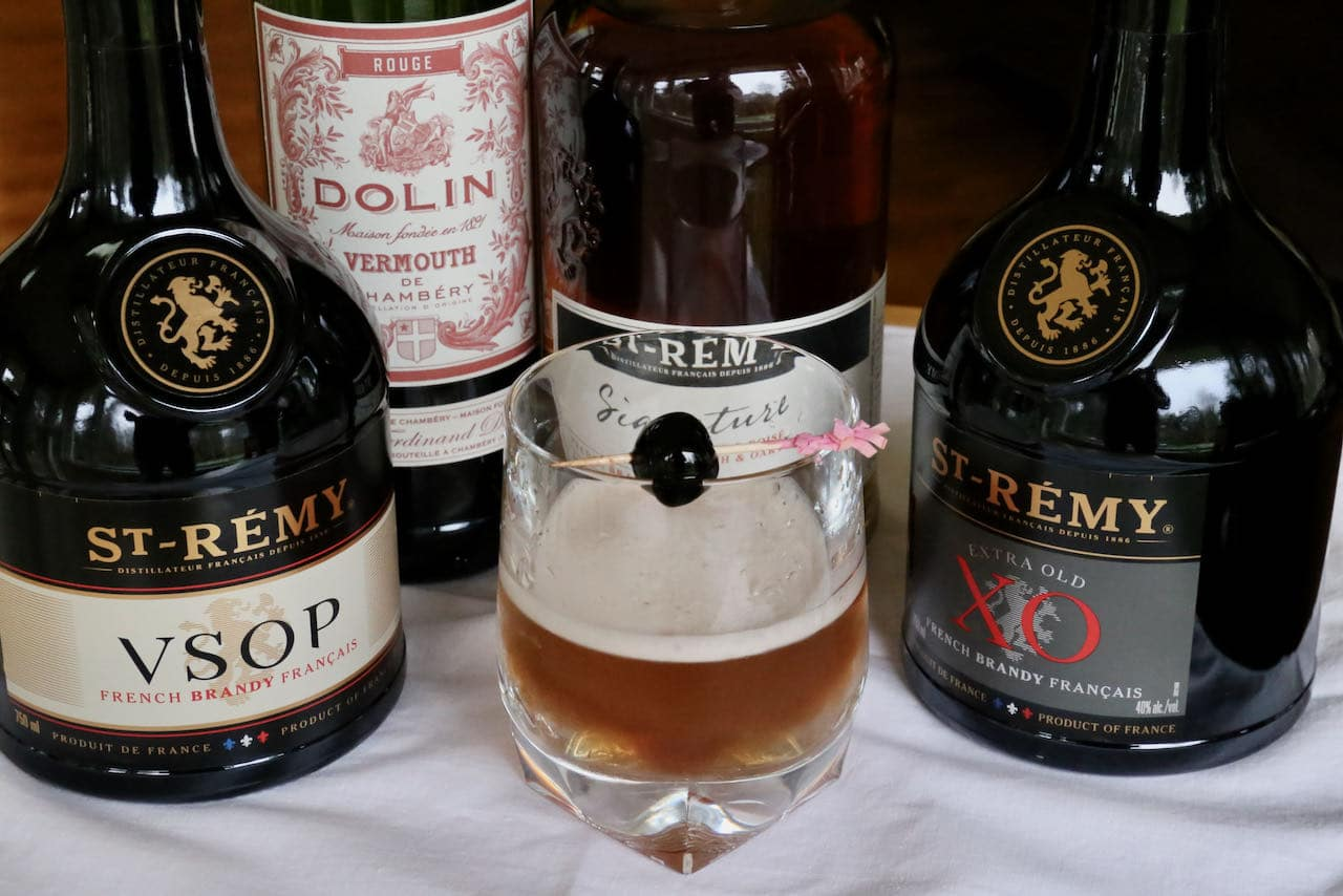 Learn how to make the best Brandy Manhattan cocktail recipe.