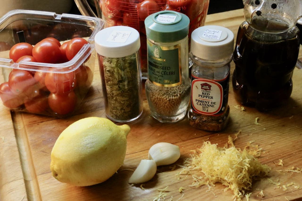 Prepare Burrata Bruschetta tomato chutney.