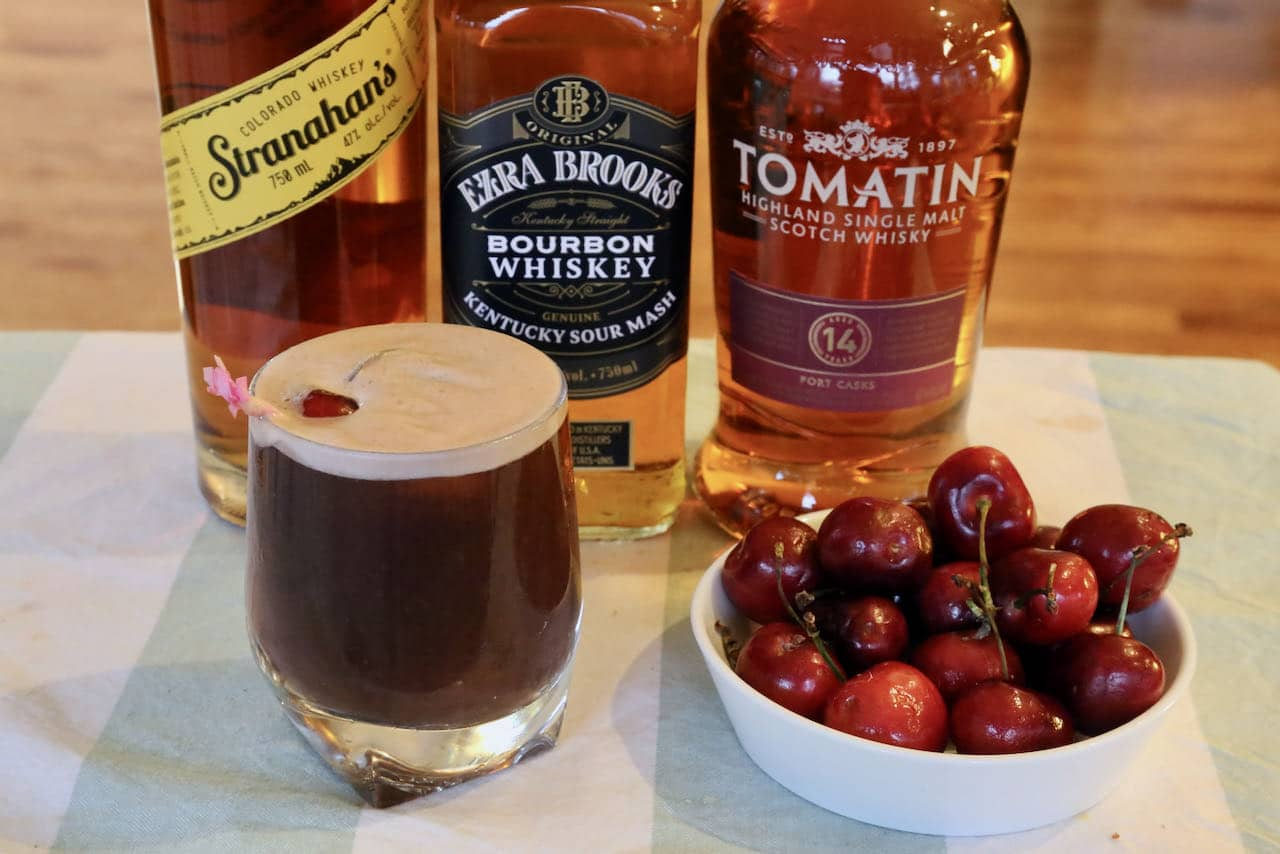 Now you're an expert on how to make the best Cherry Whiskey Sour cocktail!