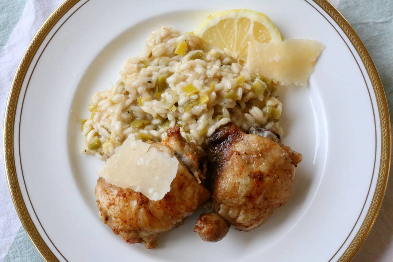 Now you're an expert on how to make healthy Chicken and Leek Risotto!
