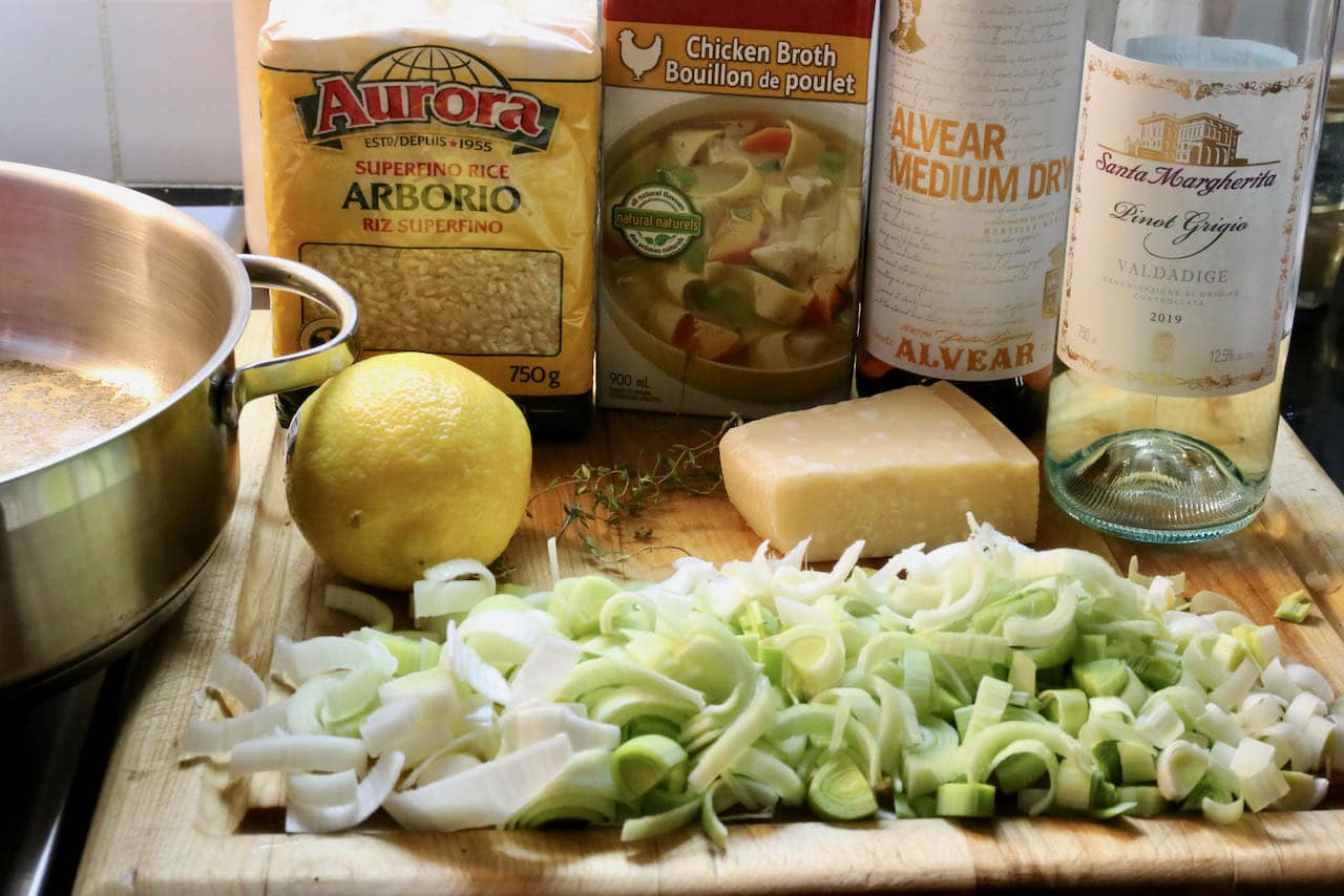 Chicken Leek Risotto should be prepared in a large skillet.