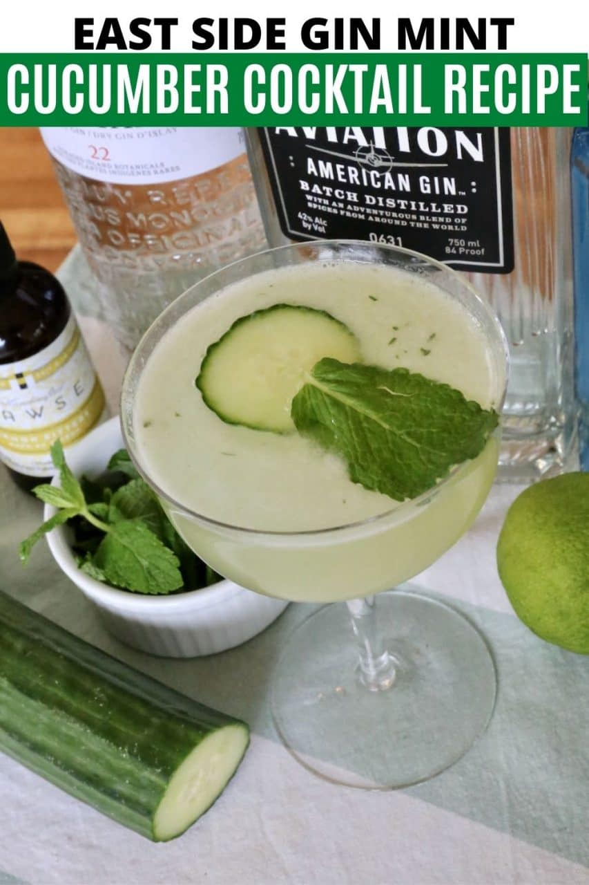 Save our Eastside Cocktail recipe to Pinterest!